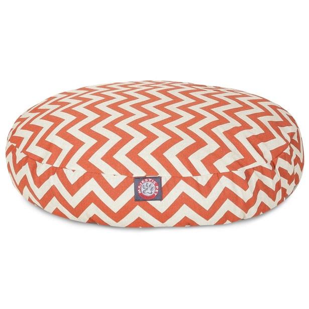 Zig Zag Round Pet Bed Color: Burnt Orange, Size: Large (42