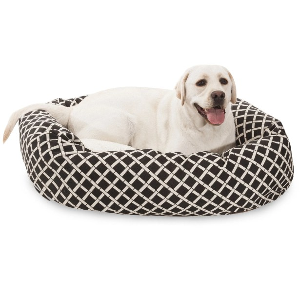 Bamboo Sherpa Bagel Pet Bed Size: Medium (32