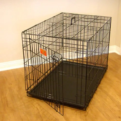 Single Door Folding Pet Crate Size: Large (30