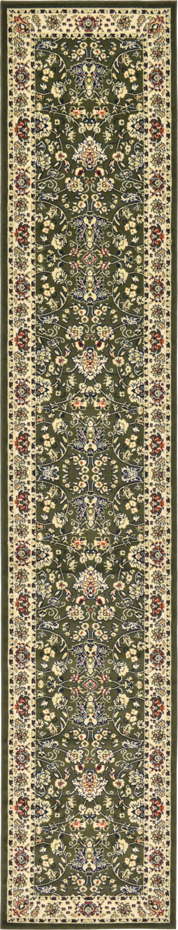Essehoul Green Area Rug Rug Size: Runner 3' x 16'5