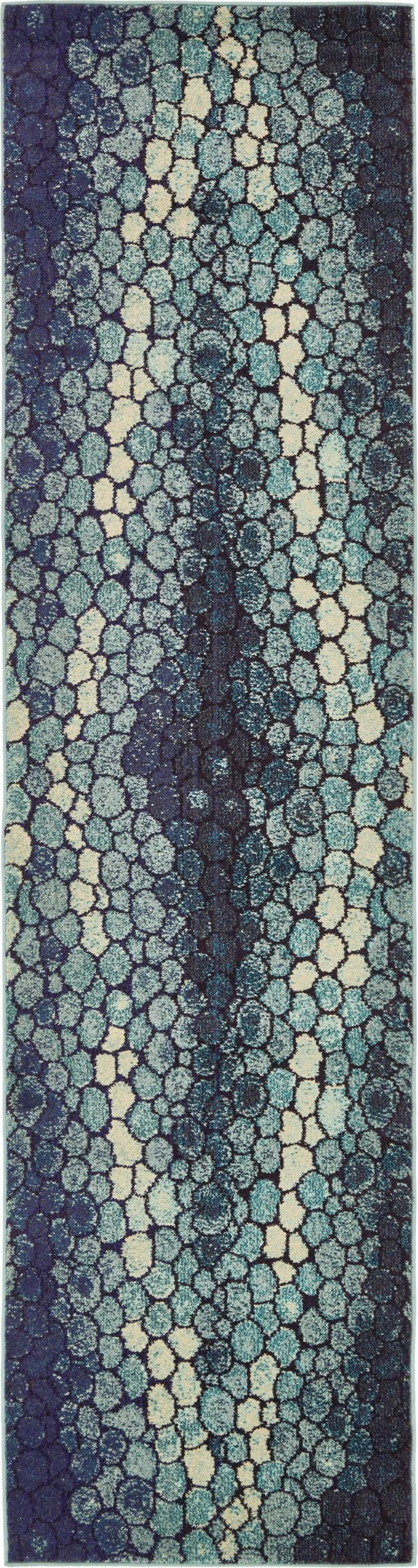Sutton Place Blue Area Rug Rug Size: Runner 2'7