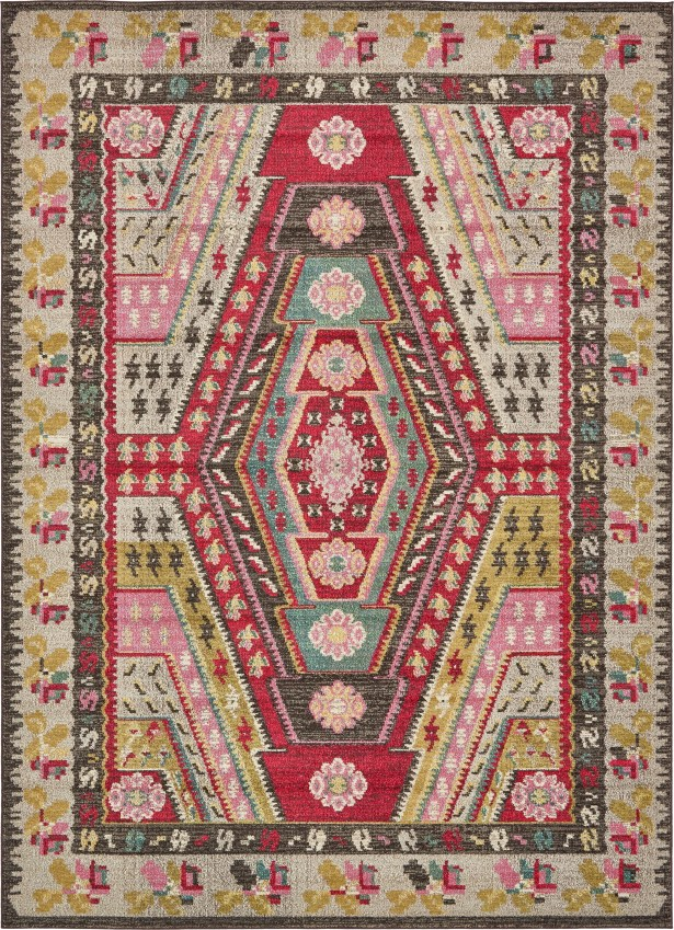 Broadway Brown/Cream Area Rug Rug Size: Rectangle 8' x 11'