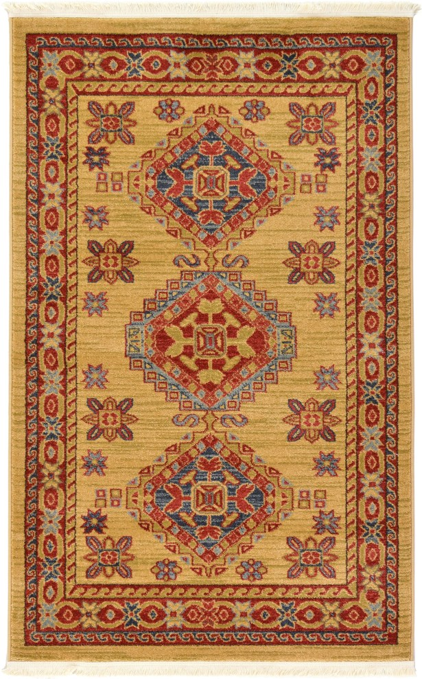 Valley Beige Area Rug Rug Size: Rectangle 3'3