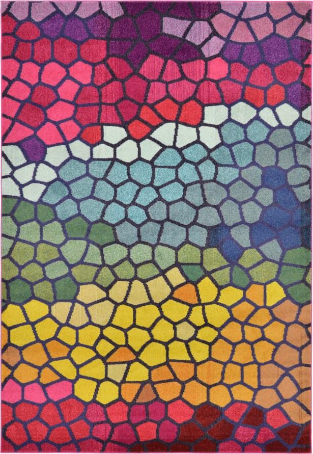 Oldsmar Pink/Yellow Area Rug Rug Size: Rectangle 6'7