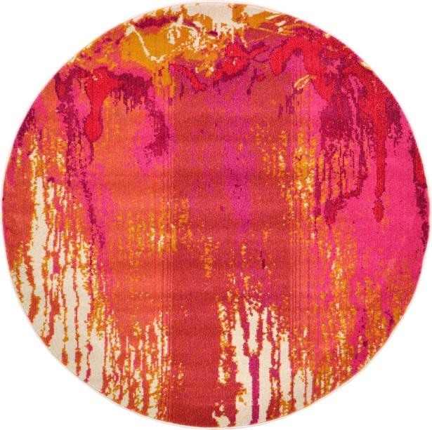 Colella Pink Area Rug Rug Size: Round 6'