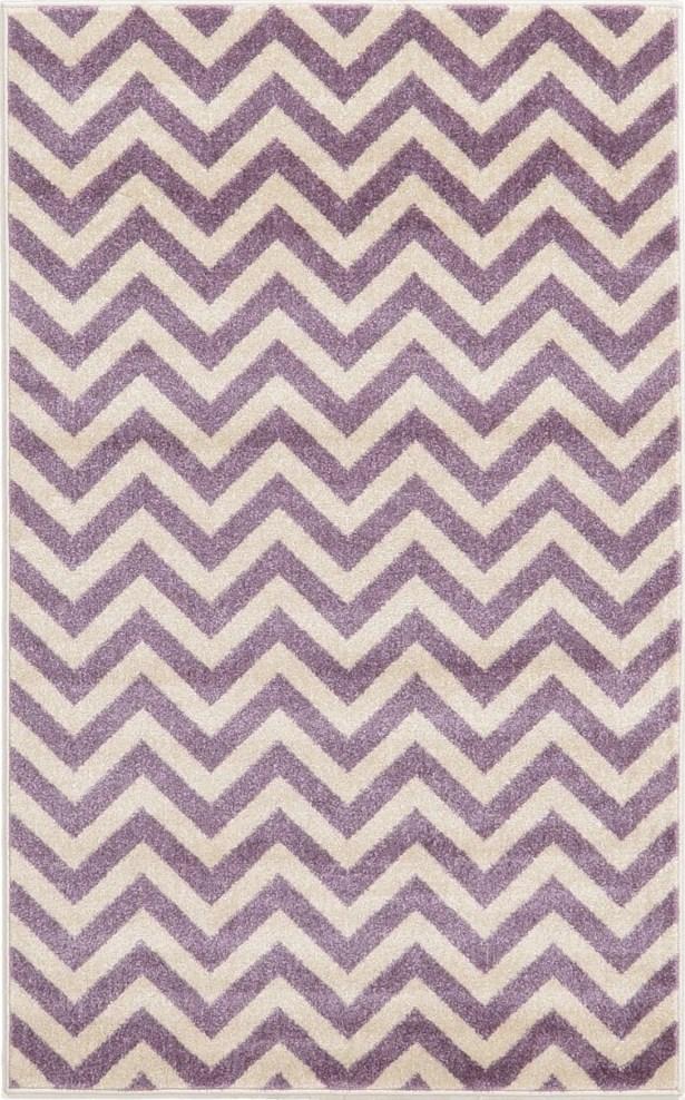 Erna Purple Area Rug Rug Size: Rectangle 7' x 10'