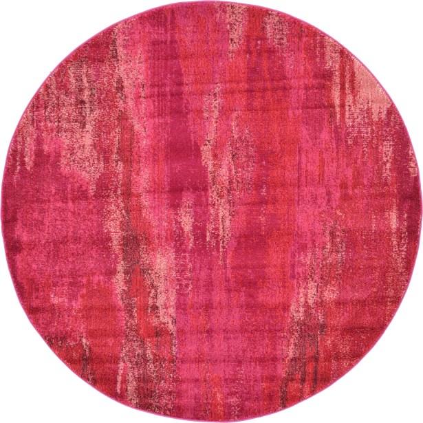 Killington Pink Area Rug Rug Size: Round 6'
