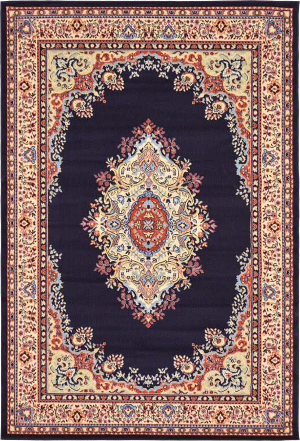 Astral Navy Blue Area Rug Rug Size: Rectangle 6' x 9'
