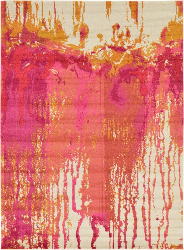 Colella Pink Area Rug Rug Size: Rectangle 8' x 11'