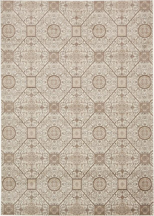 Mathieu Cream/Brown Area Rug Rug Size: Rectangle 7' x 10'