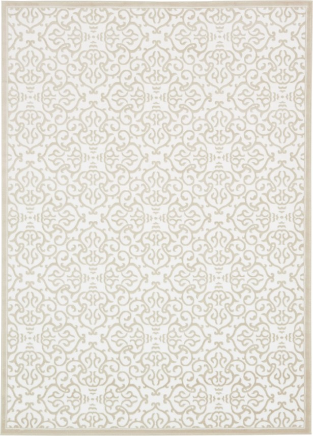 Mathieu Snow White/Beige Area Rug Rug Size: Rectangle 7' x 10'