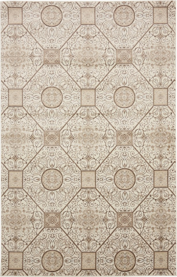 Mathieu Cream/Brown Area Rug Rug Size: Rectangle 5' x 8'