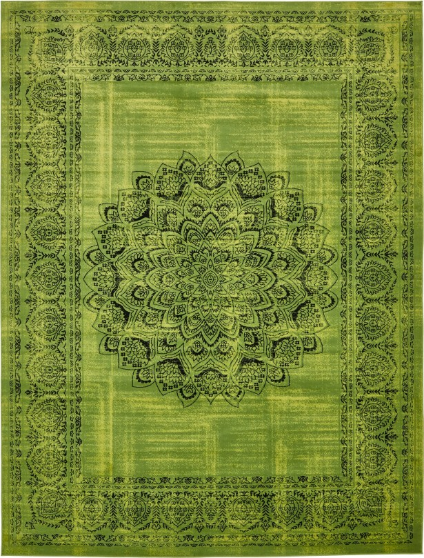 Neuilly Sage Green/Black Area Rug Rug Size: Rectangle 10' x 13'