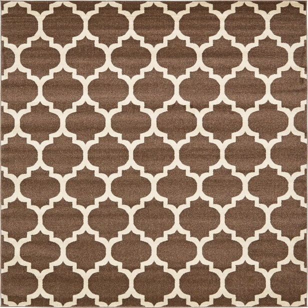 Moore Light Brown Area Rug Rug Size: Square 8'