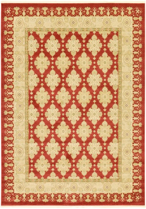 Fonciere Red/Beige Area Rug Rug Size: Rectangle 8' x 11'2