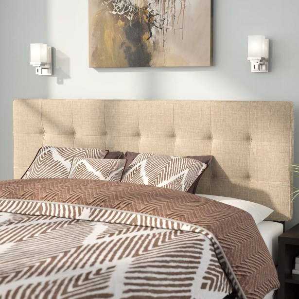 Francis Upholstered Panel Headboard Size: King, Upholstery: Ivory