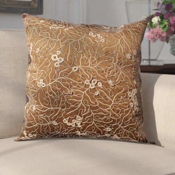 Fuhrmann Throw Pillow Color: Brown