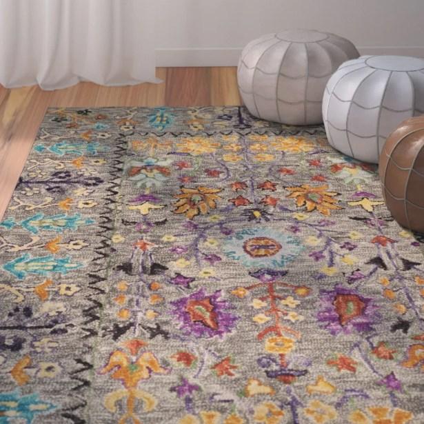 Broadmoor Hand-Tufted Wool Gray Area Rug Rug Size: Rectangle 3' x 5'