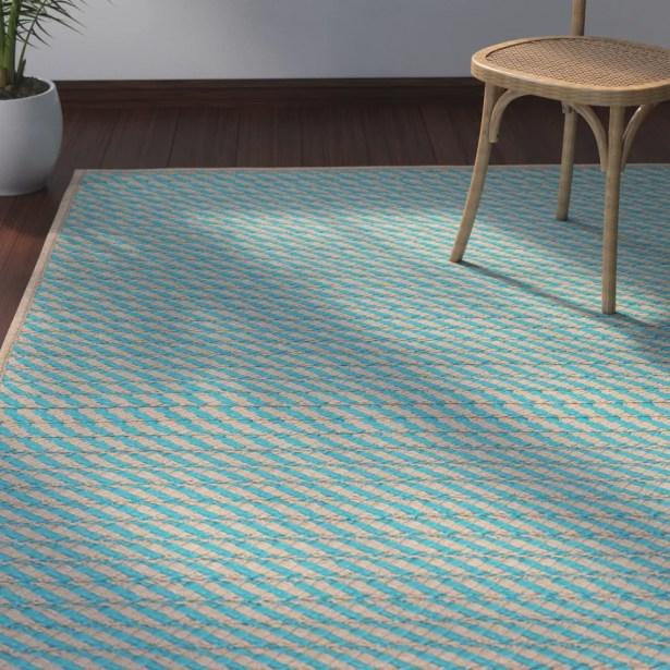 Mammari Hand-Woven Blue Indoor/Outdoor Area Rug Rug Size: Runner 2' x 8'