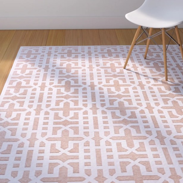 Drew Brown/White Area Rug Rug Size: Rectangle 7'6