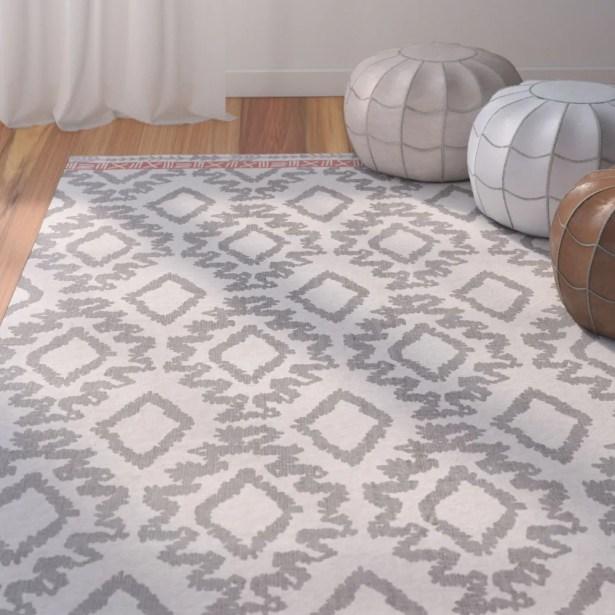 Kopstal Hand Woven Gray/Orange Area Rug Rug Size: Rectangle 8' X 11'