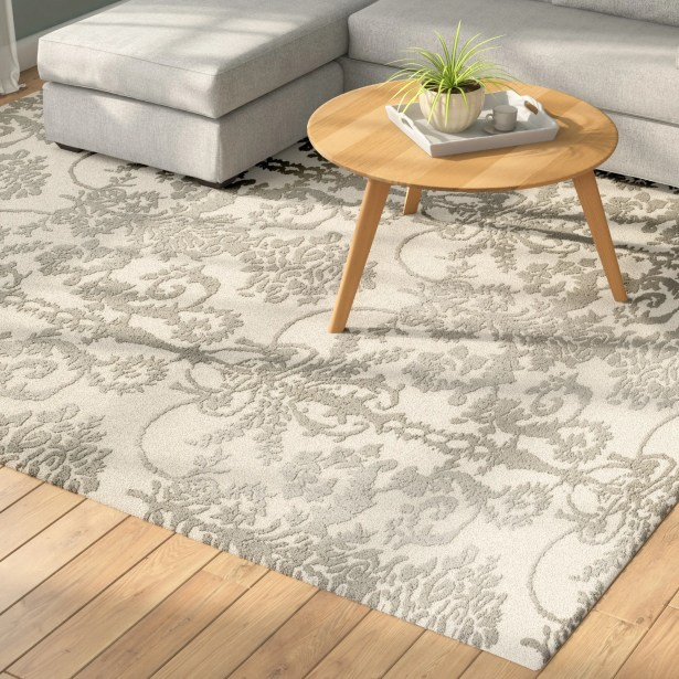 Dickinson Hand-Tufted Ivory/Gray Area Rug Rug Size: Rectangle 3' x 5'