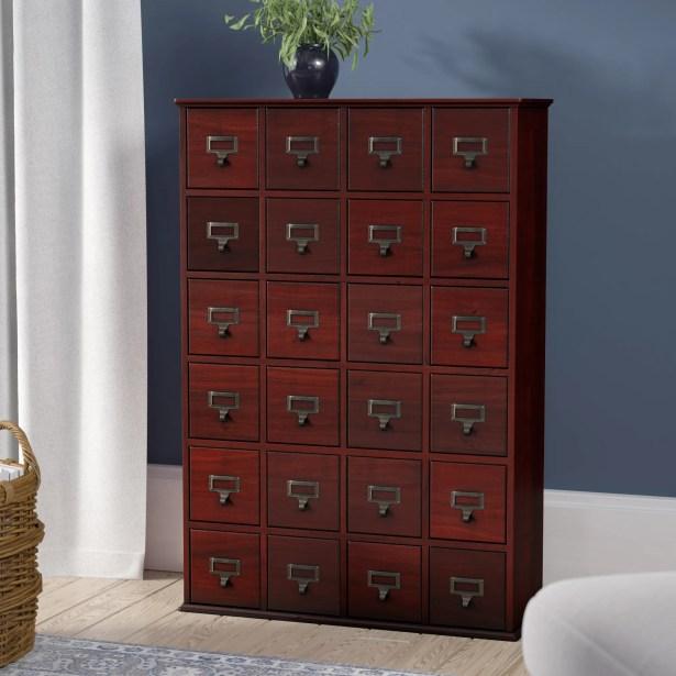Shillington Multimedia Storage Cabinet Color: Cherry
