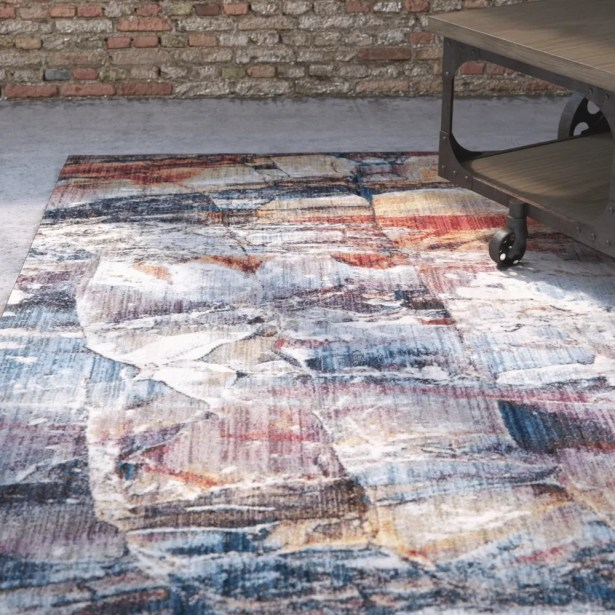 Foresta Abstract Blue/Red Area Rug Rug Size: Rectangle 6' x 9'
