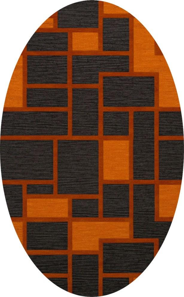 Halina Wool Fog Area Rug Rug Size: Oval 9' x 12'