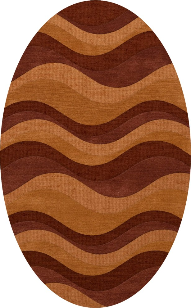 Halley Wool Harvest Area Rug Rug Size: Oval 12' x 15'