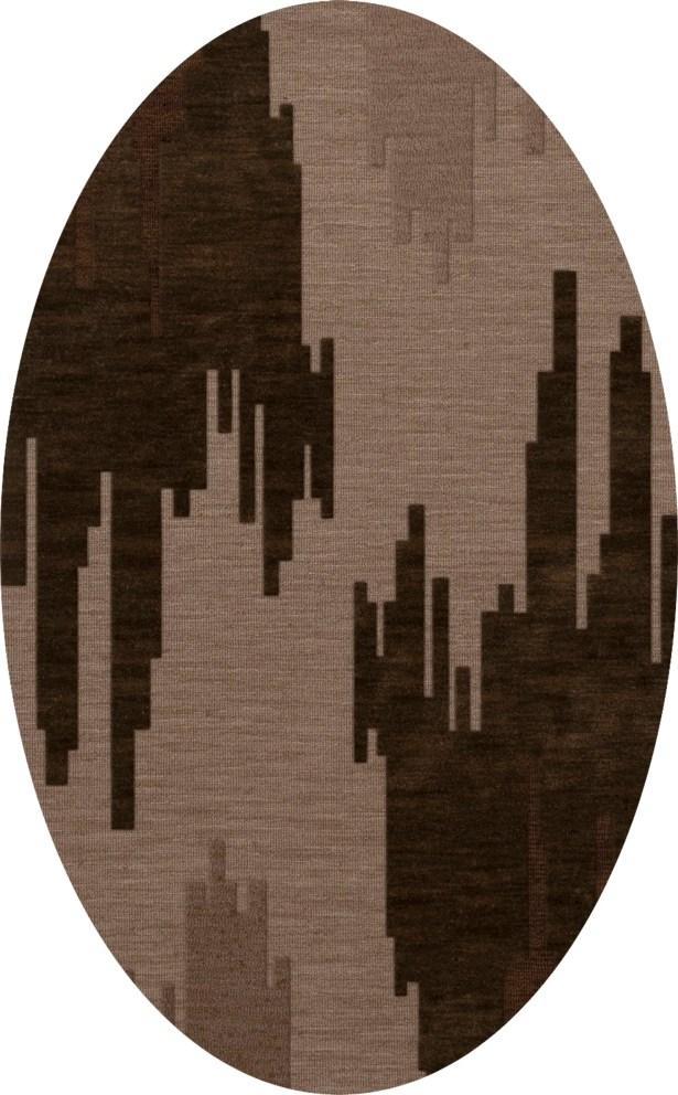 Haskin Wool Earth Area Rug Rug Size: Oval 8' x 10'