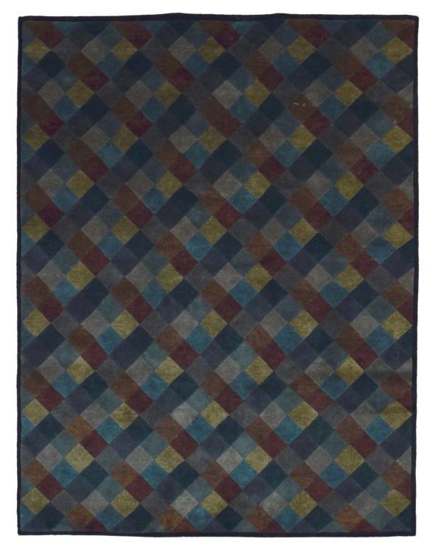 One-of-a-Kind Abbigail Modern Hand-Woven Wool Gray Area Rug