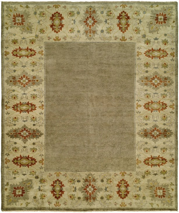 Dixon Hand Knotted Wool Gray/Sand Area Rug Rug Size: Rectangle 8' x 10'