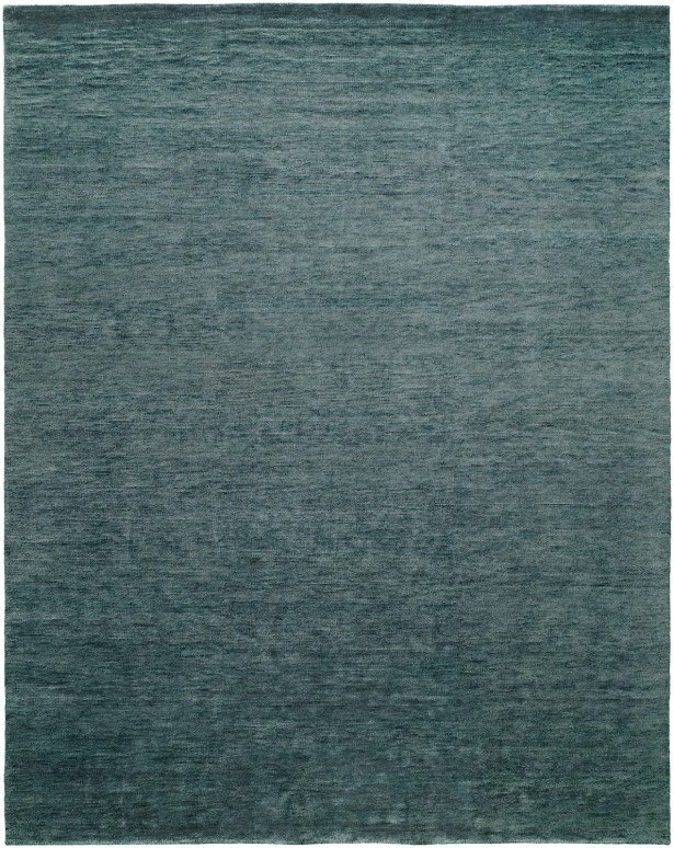 Decker Hand-Knotted Wool Blue Area Rug Rug Size: Rectangle 12' x 15'