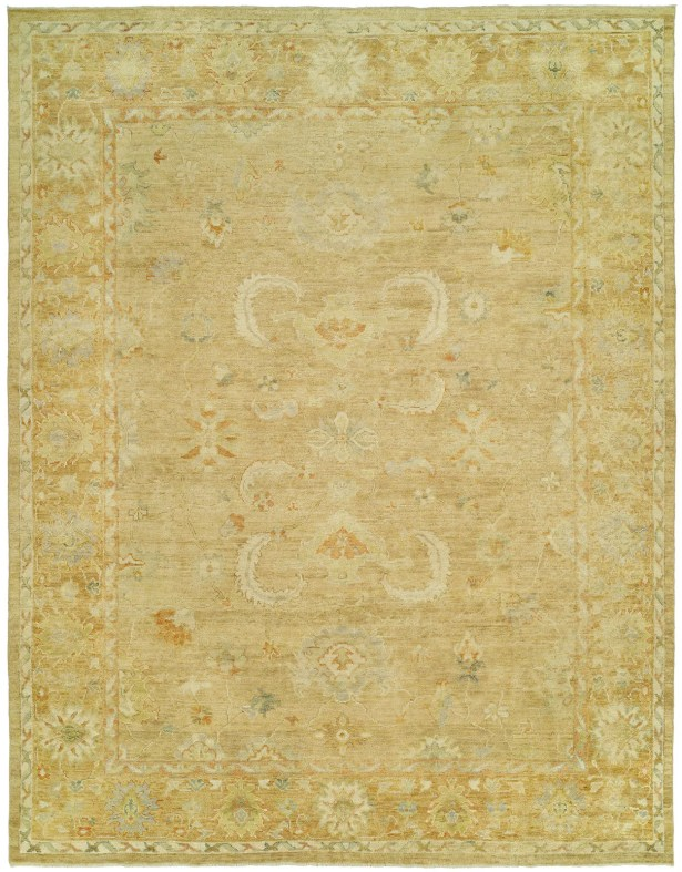 Matheson Hand Knotted Wool Gold Area Rug Rug Size: Rectangle 6' x 9'