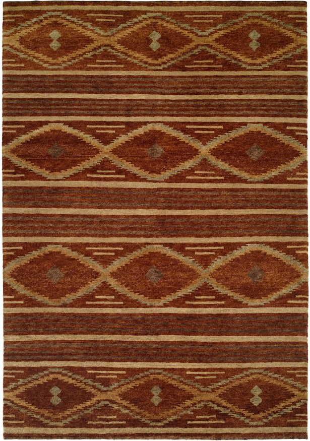 Sitkin Hand-Knotted Wool Brown Area Rug Rug Size: Runner 2'6