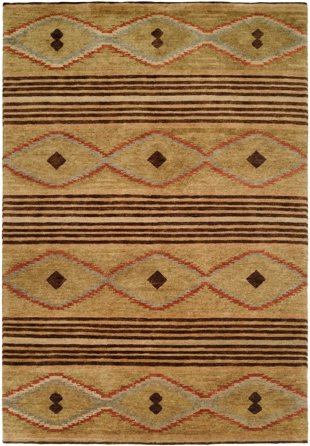 Daryl Hand-Knotted Wool Beige Area Rug Rug Size: Rectangle 9' x 12'
