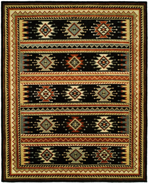 Curwood Hand-Knotted Wool Black Area Rug Rug Size: Runner 2'6