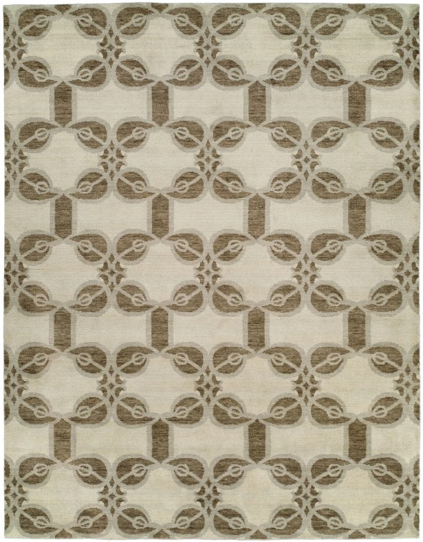 Guilaine Hand Knotted Wool Ivory Area Rug Rug Size: Rectangle 4' x 6'