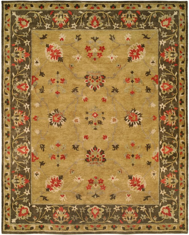 Meredith Hand Knotted Wool Gold/Brown Area Rug Rug Size: Runner 2'6