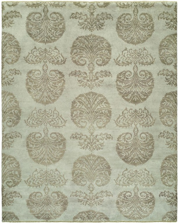 Sébastien Hand-Knotted Wool Ivory Area Rug Rug Size: Rectangle 6' x 9'