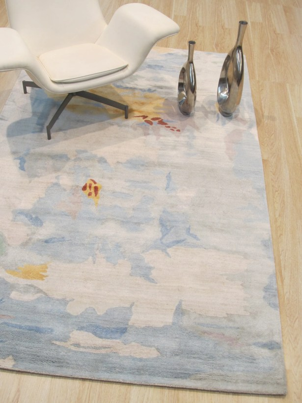 Callie Hand-Tufted Blue Area Rug Rug Size: Rectangle 5' x 8'