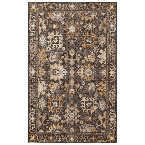 Kellie Brown Area Rug Rug Size: Rectangle 5 'x 8'