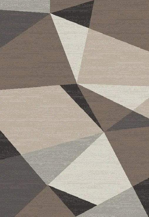 Siems Gray/Cream Area Rug Rug Size: Rectangle 5' x 8'