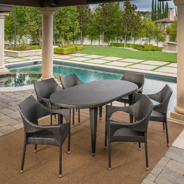 Bracondale Outdoor Dining Set Color: Gray
