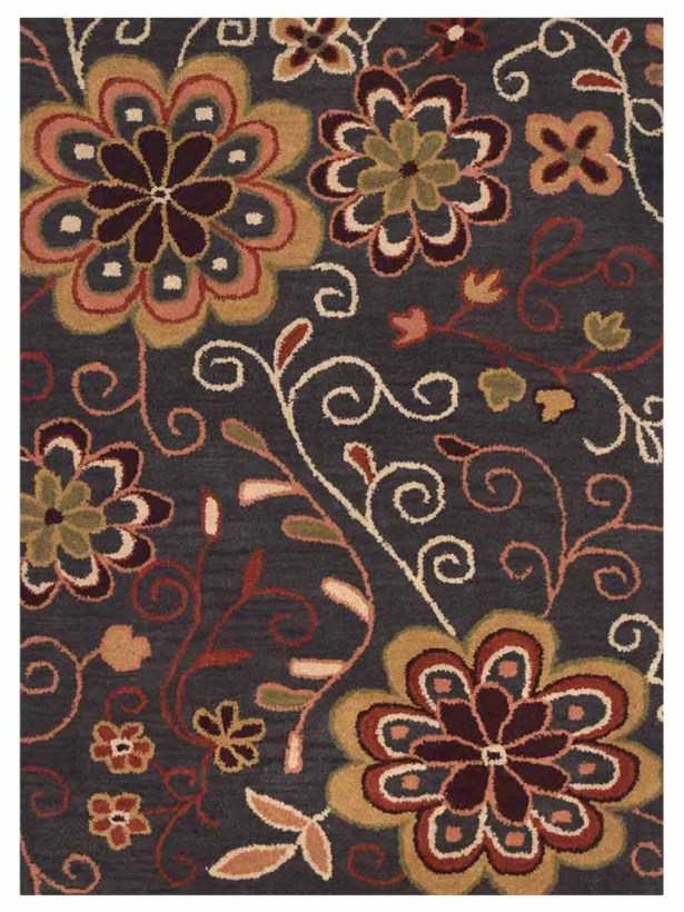 Campas Hand-Tufted Brown Area Rug Rug Size: Rectangle 5' x 8'1