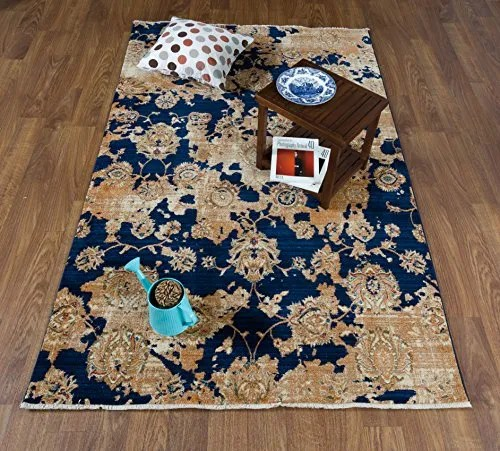 Serina Navy/Ivory Area Rug Rug Size: Rectangle 5' x 8'