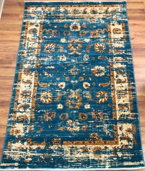 Dundonald Blue Area Rug Rug Size: Rectangle 8' x 10'
