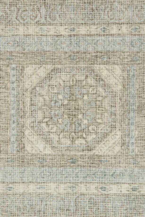 Zeinab Hand Hooked Wool Stone/Blue Area Rug Rug Size: Runner 2'6