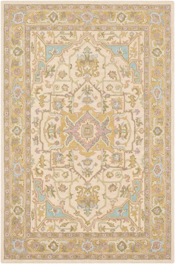 Greater Taree Hand Hooked Wool Olive/Butter Area Rug Rug Size: Rectangle 8' x 10'